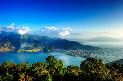 Pokhara (pictured) is one of the premier tourist destinations. Nepal has a significant potential for the development of ecological, cultural and spiritual tourism.