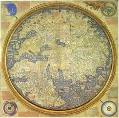 The Fra Mauro map, published c. 1450 by the Venetian monk Fra Mauro.