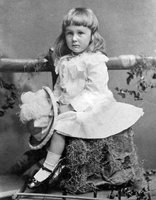 A young, unbreeched Roosevelt in 1884, 2 years old[a]