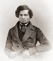 Frederick Douglass (1818–1895), a former slave whose memoirs, Narrative of the Life of Frederick Douglass, an American Slave (1845) and My Bondage and My Freedom (1855), became bestsellers, which aided the cause of abolition.