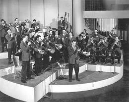 Glenn Miller and His Orchestra, on the set of Sun Valley Serenade, 1941