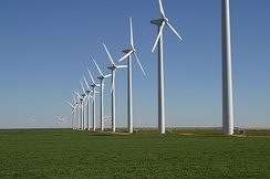 Wind turbines in Texas, United States