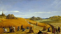 Ora et Labora (Pray and Work). This 1862 painting by John Rogers Herbert depicts monks at work in the fields