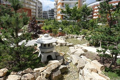 Japanese garden in the eco-district