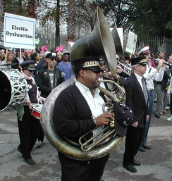 """Jazz Funeral for Democracy"" event in New Orleans"