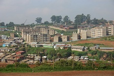Kibera slums being upgraded to New Apartment by the Kenyan Ministry of housing and United Nations Habitat