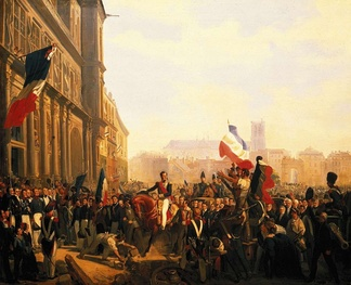 The Duke of Orleans arrives at the Hotel de Ville (31 July 1830)