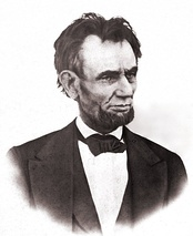 The last known high-quality image of Lincoln, taken on the White House balcony, March 6, 1865