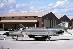 German Air Force F-4F Phantom II 72-1261, flown by the 20th Fighter Squadron at Holloman AFB. The Phantoms were flown until 2004; today the German Air Force operates Panavia Tornado IDS and Eurofighter Typhoon interceptors from Holloman