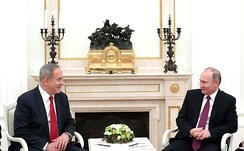 Putin with Israeli Prime Minister Benjamin Netanyahu, Moscow, 9 March 2017