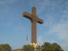 The Millennium Cross in Skopje, North Macedonia, one of the biggest crosses in the world (2000)