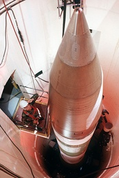 Minuteman III in silo (1989, Grand Forks AFB)