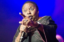 Miriam Makeba during a performance
