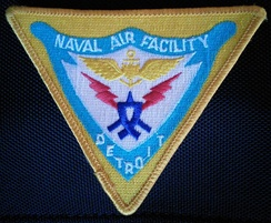 A patch (and the insignia) of the Naval Air Facility Detroit
