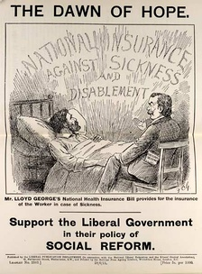 Leaflet promoting the National Insurance Act 1911.