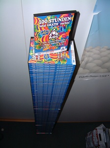 A collection of AOL CDs sent to a student dormitory in Germany, 2002