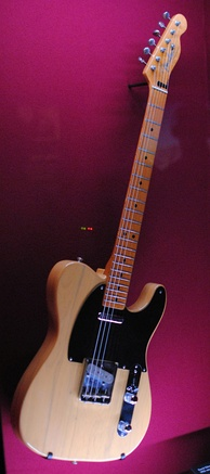 For 'Later...', Gilmour played the song on his 'Fender Telecaster 52V', a 1982 reissue of the 1952 original; seen here displayed at the Pink Floyd: Their Mortal Remains exhibition