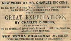 Advertisement for Great Expectations in All the Year Round