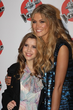 Leahcar with her coach and mentor Delta Goodrem in June 2012.