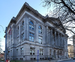 Rensselaer County Courthouse located on the corner of Congress and 2nd Streets in Troy