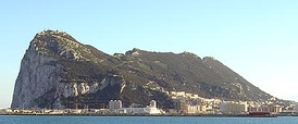 View of the Rock of Gibraltar, whose city was conquered by Ferdinand IV on 12 September 1309.