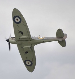 Spitfire Mk IIa P7350 of the BBMF is the only existing airworthy Spitfire that fought in the Battle of Britain.
