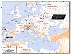 European strategic situation in 1805 before the War of the Third Coalition