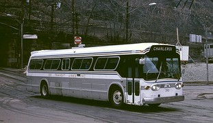 A 1968-vintage Suburban-type New Look bus.