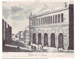 Exterior view of the theatre around 1850