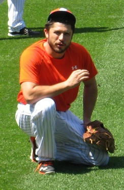 d'Arnaud with the Mets in 2016