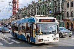 Trolleybus on Nevsky Avenue.