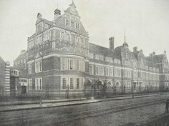 The university's original Battersea campus, including its Great Hall