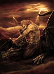 Modern depiction of Vahagn the dragon slayer.