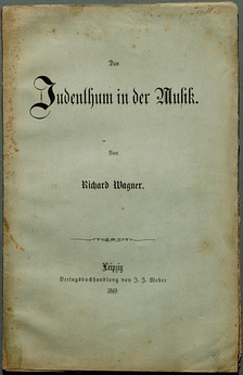 Title page of the second edition of Das Judenthum in der Musik, published in 1869