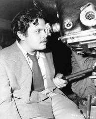 Orson Welles directing The Magnificent Ambersons