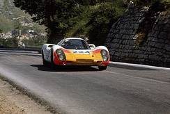 Winning the 1968 Targa Florio in this Porsche 907 with Umberto Maglioli.