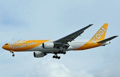 Scoot Boeing 777-200ER in 2012