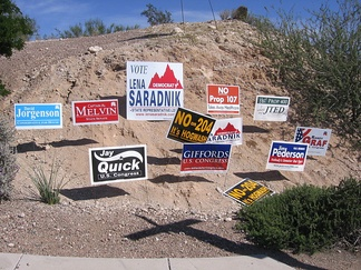 Variety of 2006 AZ CD8 race campaign signs, including for Pederson