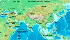 Asia in 323BC, the Nanda Empire and Gangaridai Empire in relation to Alexander's Empire and neighbours.