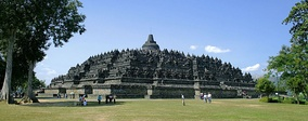 Borobudur in Central Java, the world's largest Buddhist temple, is the single most visited tourist attraction in Indonesia.[190]
