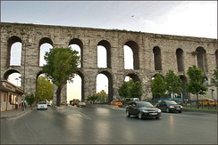 The construction of the Aqueduct of Valens began during the reign of the Roman emperor Constantius II and was completed in 373 during the reign of emperor Valens.