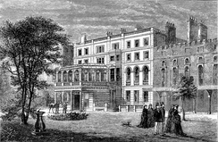 An 1874 drawing of Clarence House