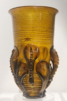 Frankish glass 'claw beaker' 5th-6th century, excavated in Kent