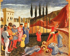 The Beheading of Cosmas and Damian, by Fra Angelico