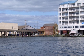 Crisfield's waterfront and town pier