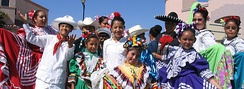 Salinas youth at the El Grito Cultural Festival, a yearly celebration that draws over 50,000 people[63]