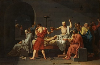 The Death of Socrates (1787), by Jacques-Louis David