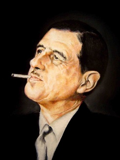 Charles de Gaulle. Portrait by Donald Sheridan