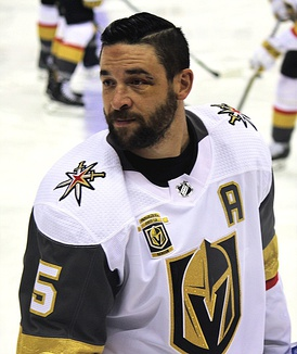 Deryk Engelland, an alternate captain for the Golden Knights, served as the de facto team captain as he led the Golden Knights to their first Stanley Cup Finals appearance in franchise history, in their first season of operations