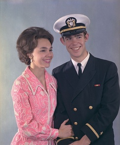 Julie and David Eisenhower (age 23) in 1971